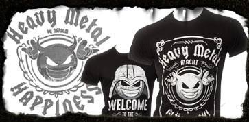 heavy metal macht gluecklich happiness t-shirt shirt oberteil tasche merchandise