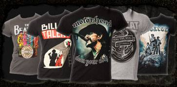 bands bandmerchandise t-shirts pullover metal rock motoerhead volbeat billy talent sabaton bestellen online shop