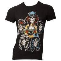 Guns N Roses - T-Shirt Vintage Heads - schwarz