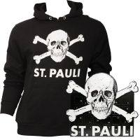 FC St. Pauli SET mit Adventskalender & Kapuzenpullover mit Totenkopf - schwarz