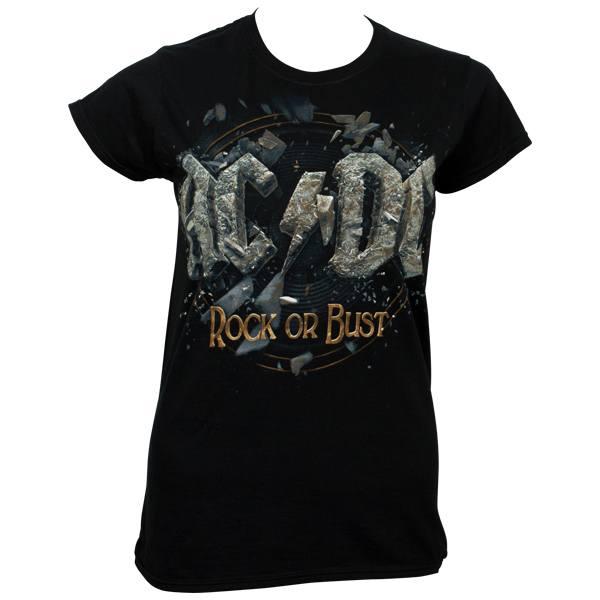 AC/DC - Girl T-Shirt Rock Or Bust - schwarz