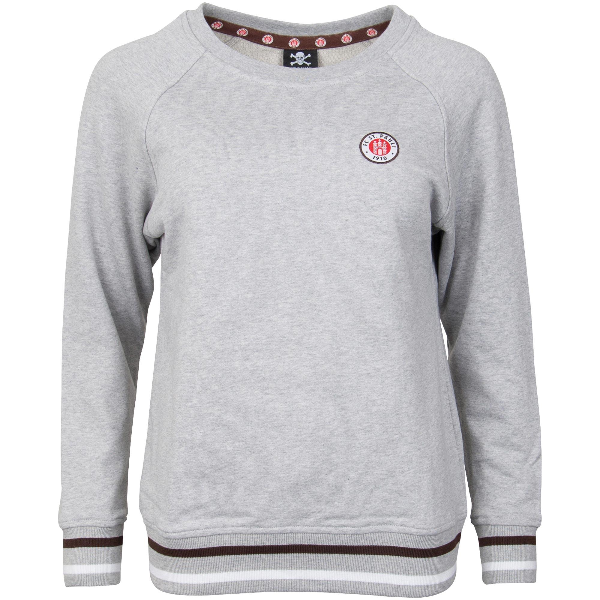 FC St. Pauli - Damen Sweatshirt Club mit Logo - grau