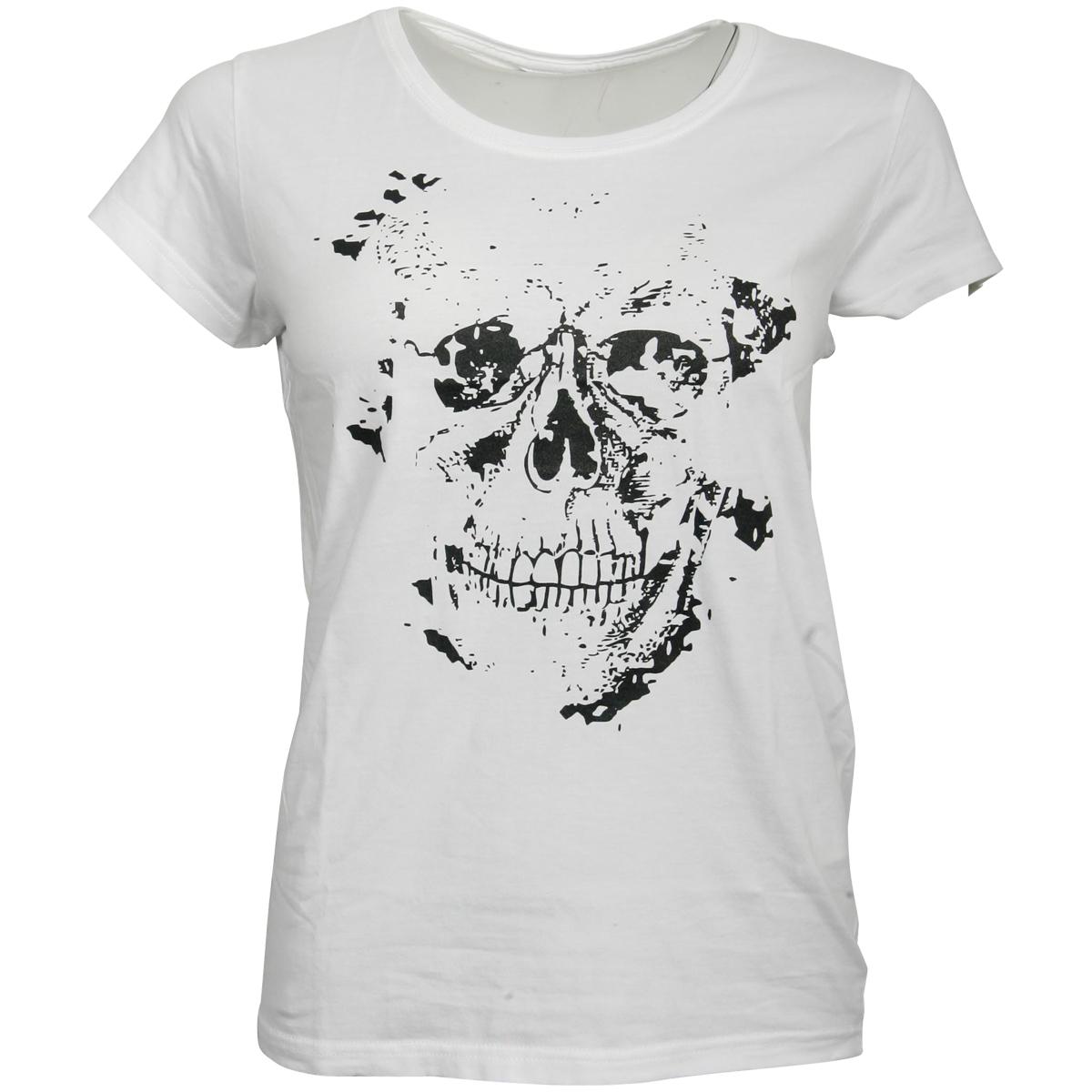 FC St. Pauli - Damen T-Shirt Skully - weiß