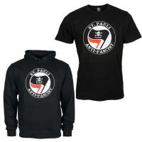 FC St. Pauli - Anti Fascist Set Kapuzenpullover + T-Shirt - schwarz