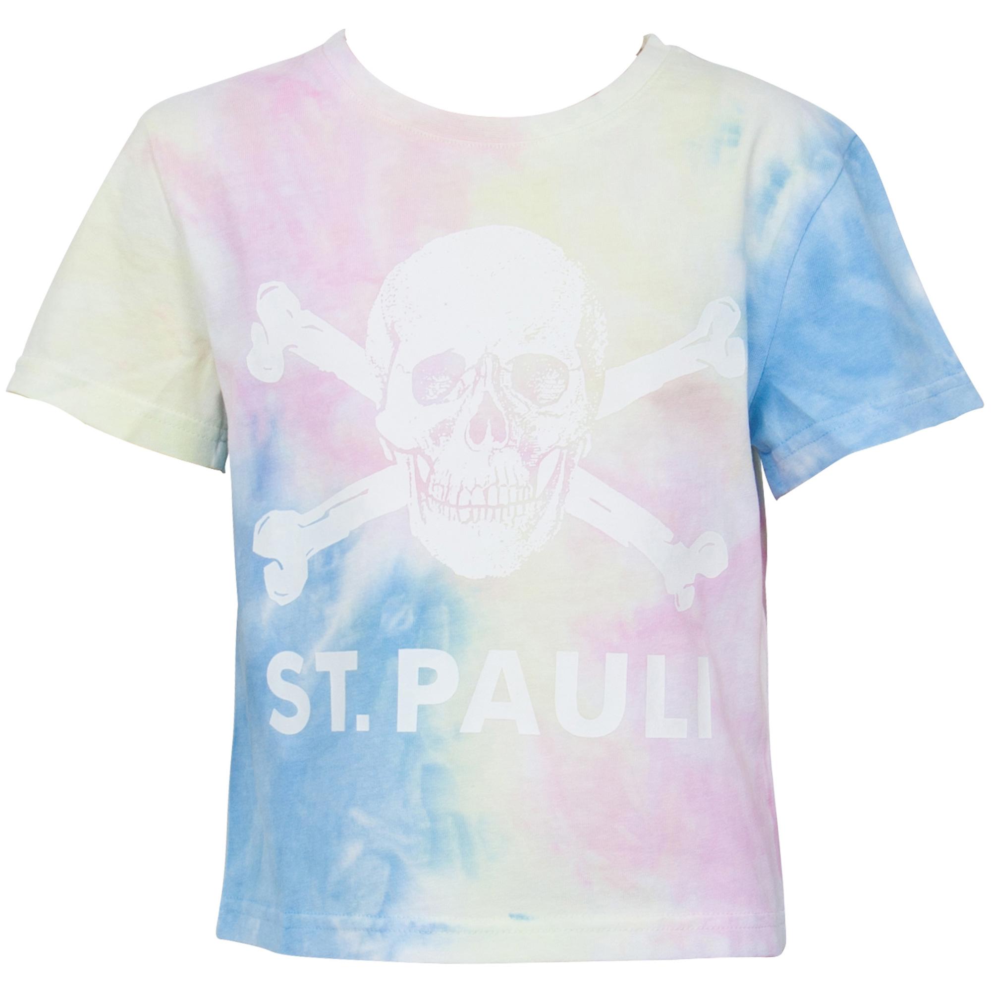 FC St. Pauli - Kinder T-Shirt Pastell Batik Totenkopf
