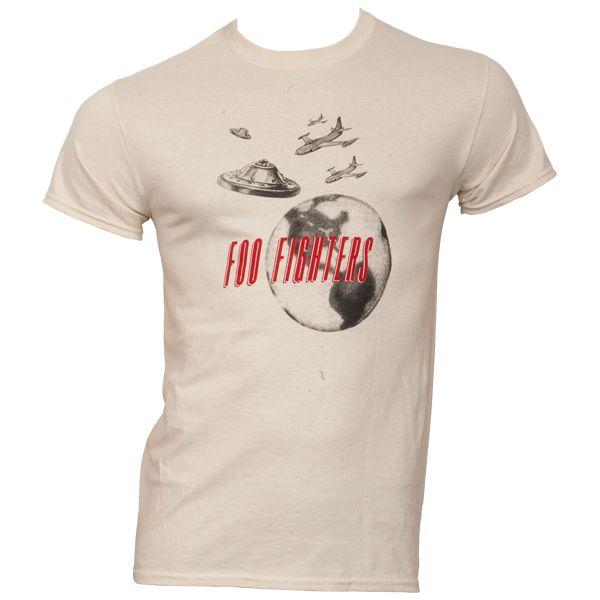 Foo Fighters - T-Shirt Ufo - weiß
