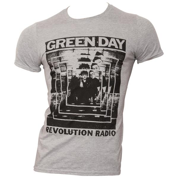 Green Day - T-Shirt Power Shot - grau