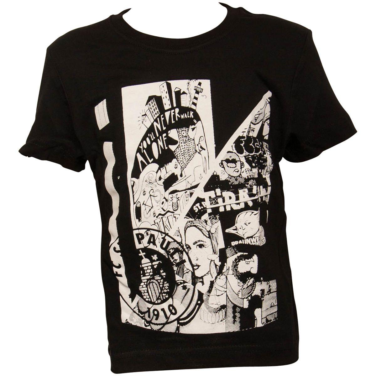 FC St. Pauli - Kinder T-Shirt Art - schwarz