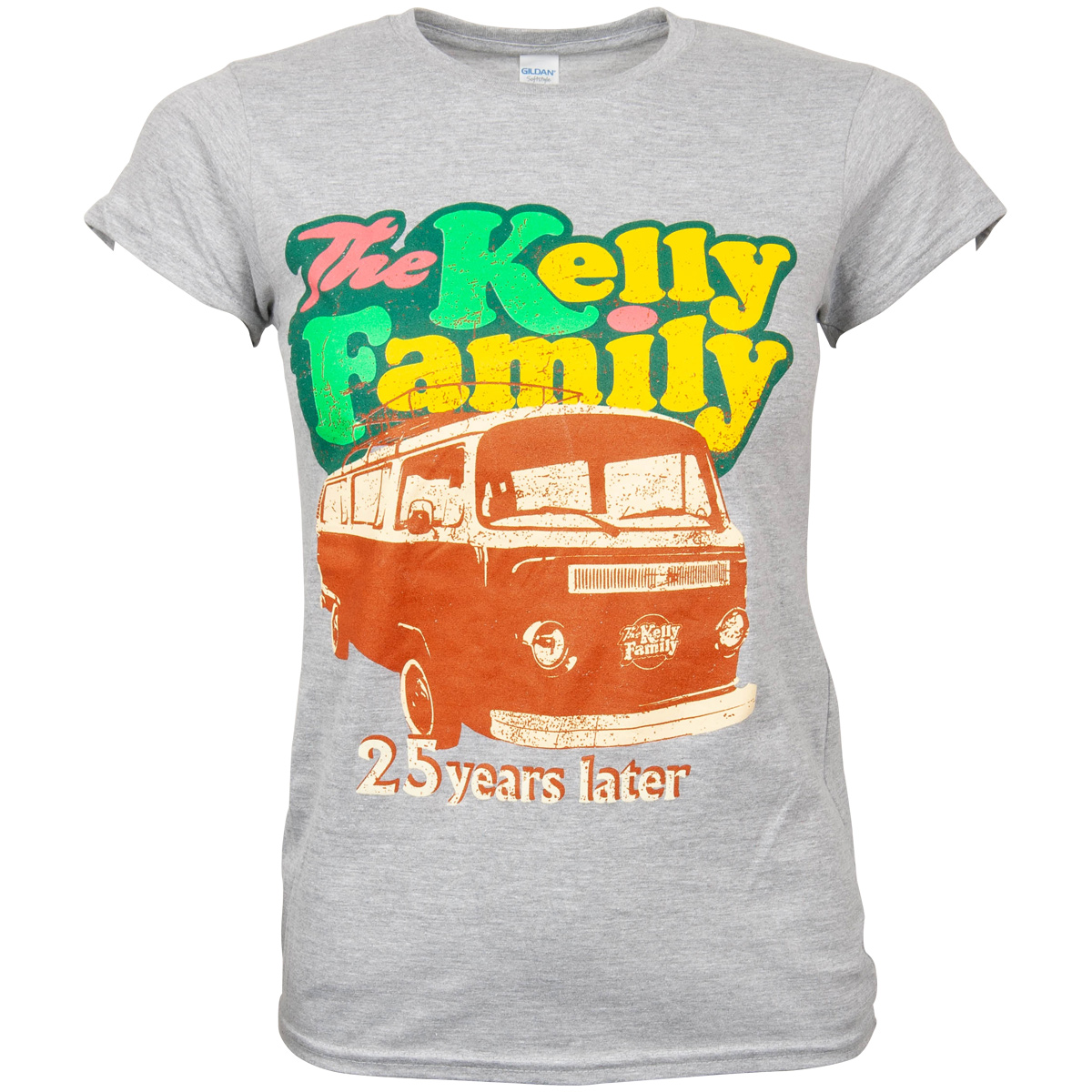 The Kelly Family - Damen Tour T-Shirt 2019-2020 Camper Van - grau