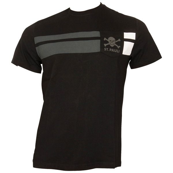 FC St. Pauli - T-Shirt Balkenstripes - schwarz