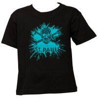 FC St. Pauli Kinder T-Shirt Splash TK Schwarz-Türkis