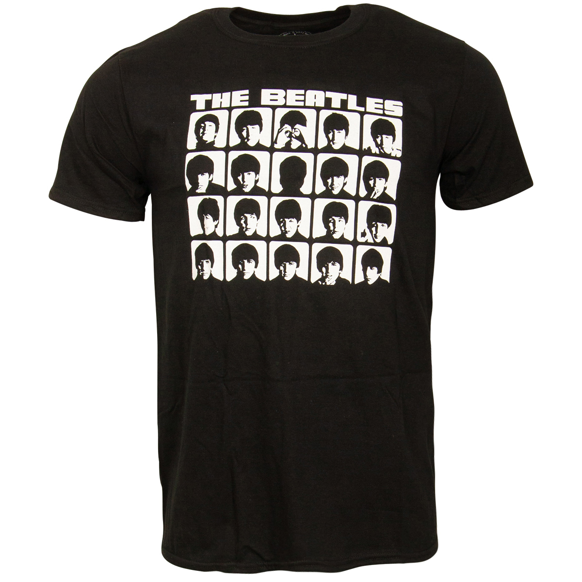 The Beatles - T-Shirt Hard Days Night Faces Mono - schwarz