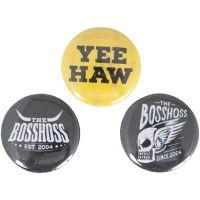 The BossHoss - 3er Buttonset - multicolor