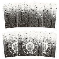 FC St. Pauli - Fliesenaufkleber Logo 3x2er Set  - transparent-schwarz