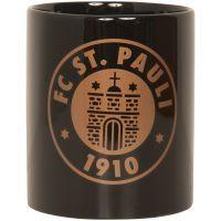 FC St. Pauli - Kaffeebecher Logo Bronze - schwarz