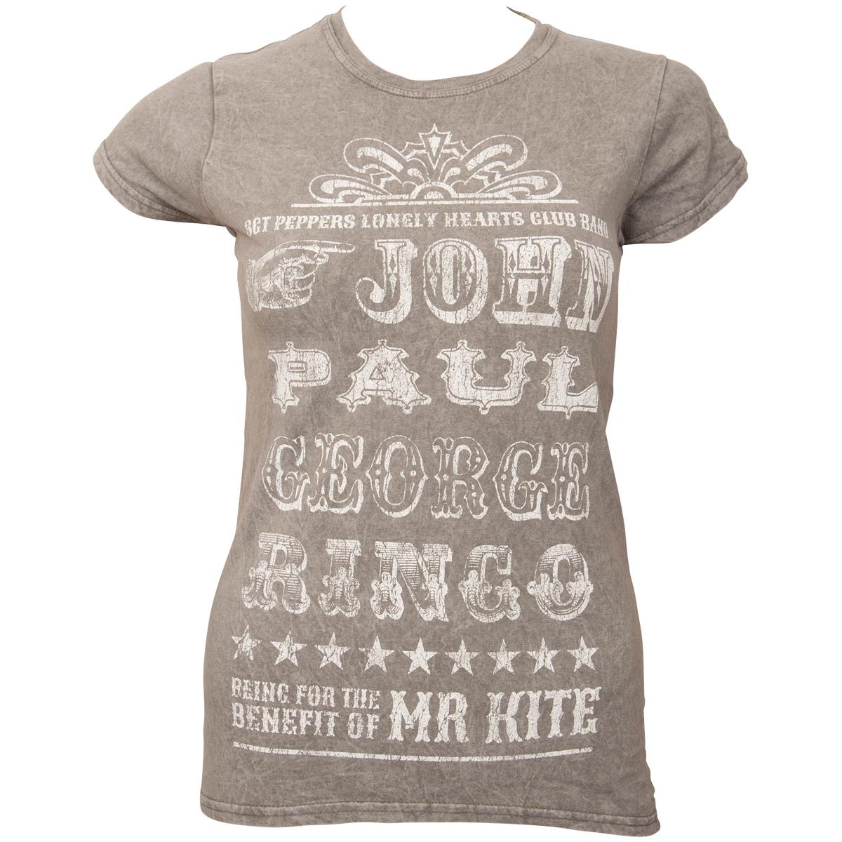 The Beatles - Frauen T-Shirt Mr Kite - grau