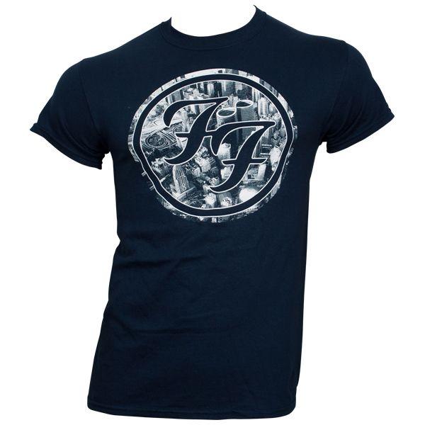 Foo Fighters - T-Shirt City Circle - blau