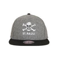 FC St. Pauli - Cap Totenkopf Filz - grau