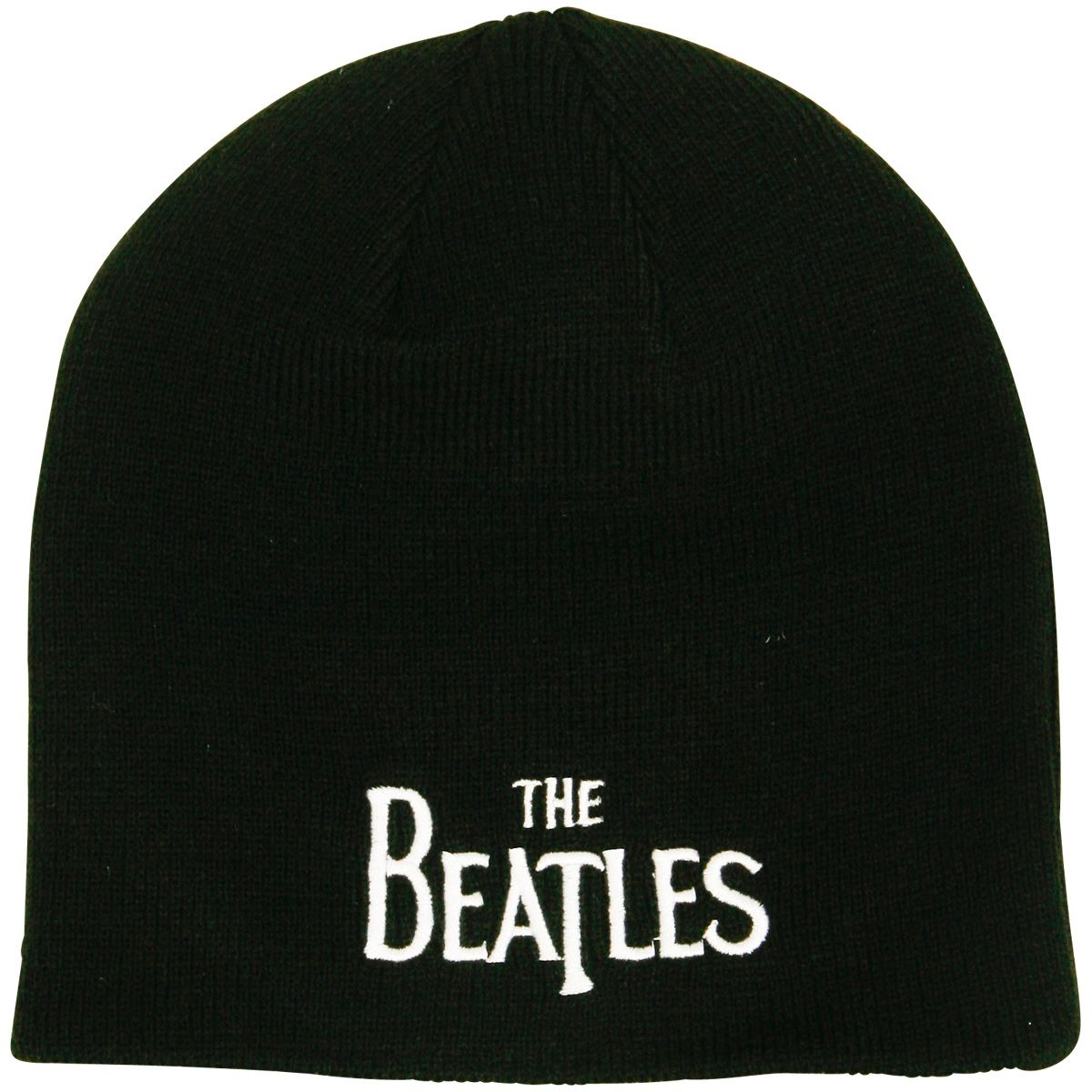 2e6be1a79ba023 The Beatles - Black Beanie Drop T Logo   ROCKnSHOP
