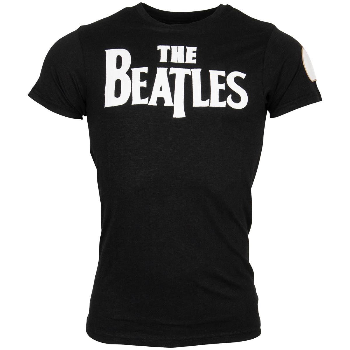 The Beatles - T-Shirt Drop T Logo - schwarz
