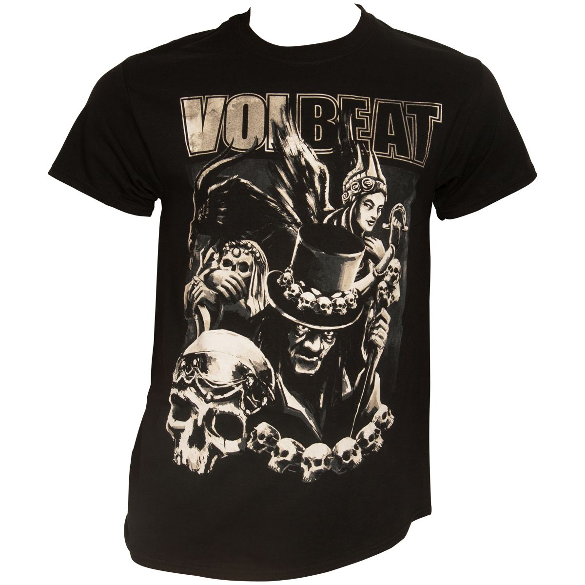 Volbeat T-Shirt Black Collage Schwarz