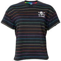 FC St. Pauli - Damen T-Shirt Rainbow Stripes - schwarz