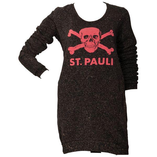 FC St. Pauli - Frauen Sweatshirt Spray - schwarz/beige