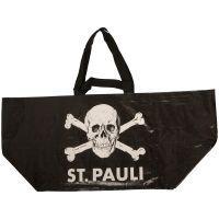 FC St. Pauli - Große Einkaufstasche Totenkopf - schwarz