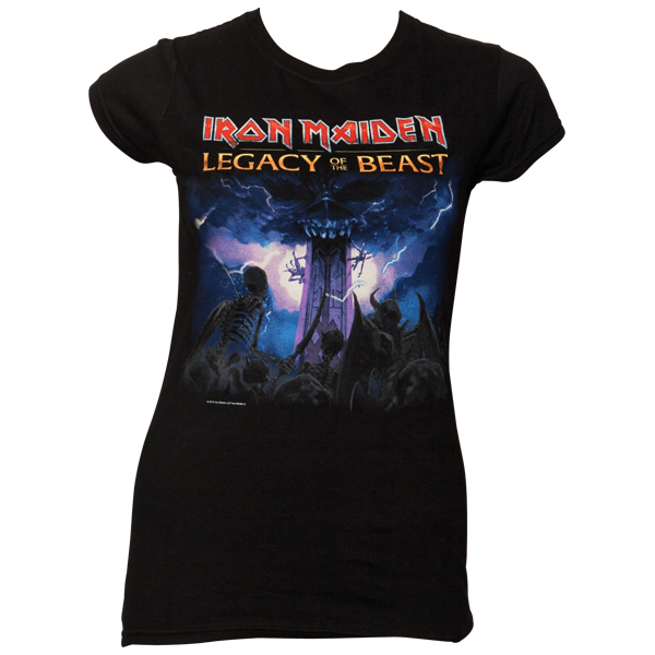 Iron Maiden - Frauen T-Shirt Legacy Of The Beast - schwarz