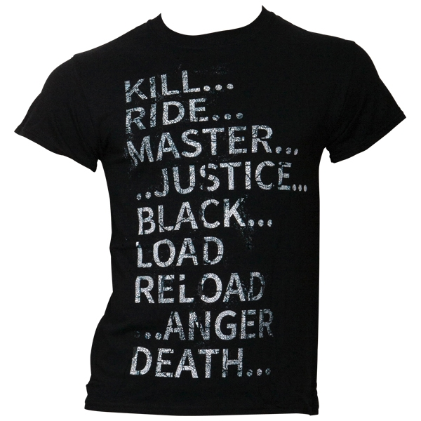 Metallica - T- Shirt Album Text - schwarz