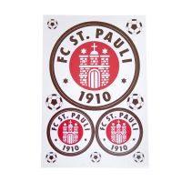 FC St. Pauli - Aufkleber Logo 3er Set