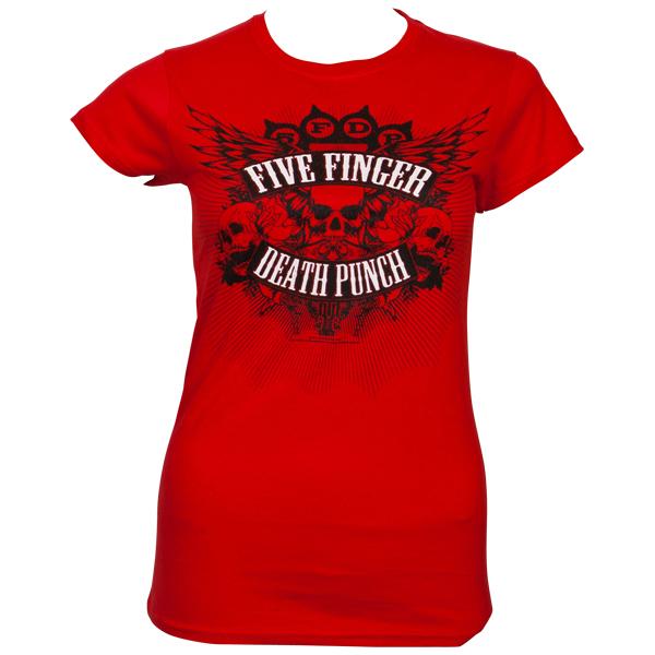 Five Finger Death Punch - Girly T-Shirt Death Burst - rot