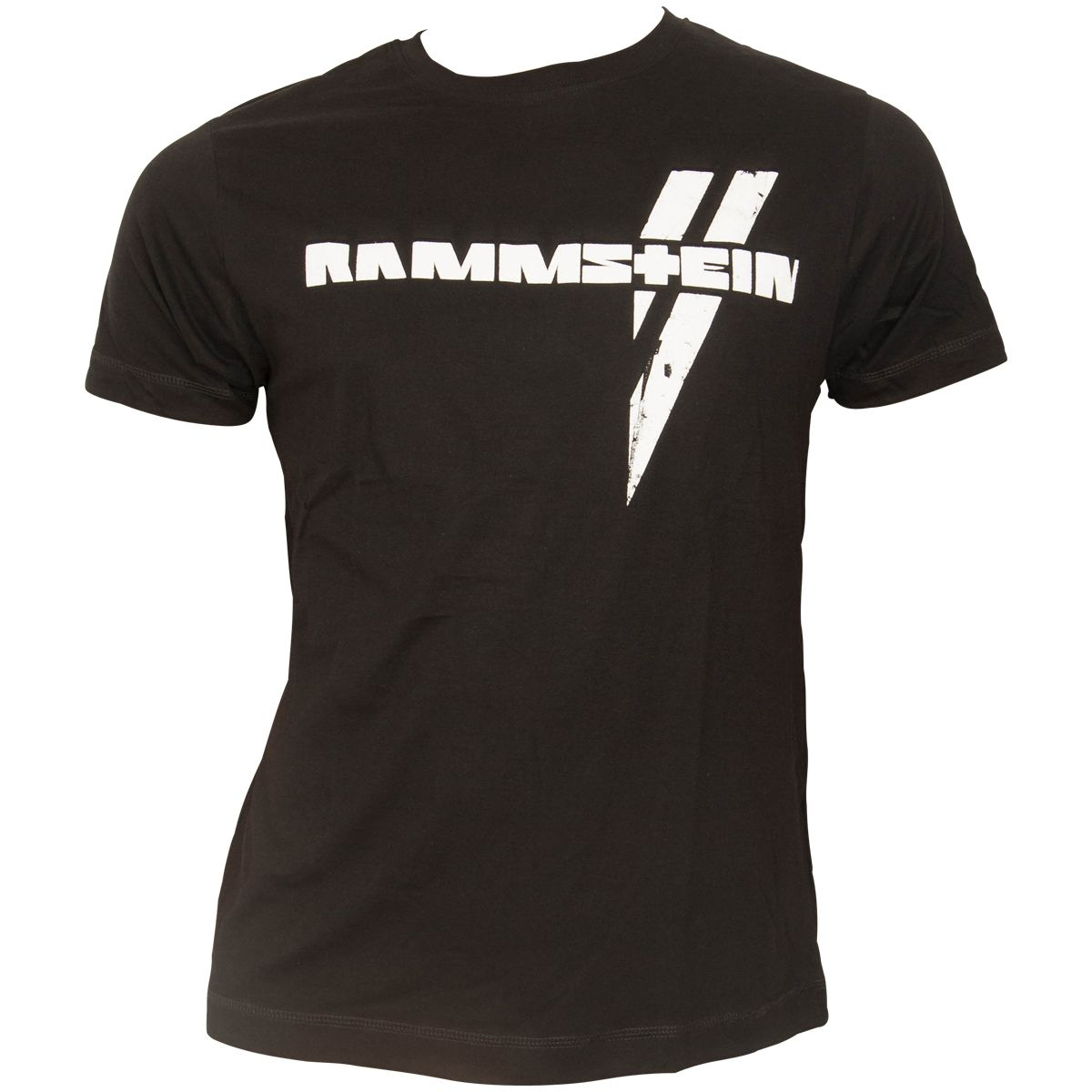 rammstein schwarzes t shirt wei er balken rocknshop. Black Bedroom Furniture Sets. Home Design Ideas