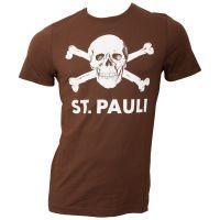 FC St. Pauli - T-Shirt Totenkopf - braun