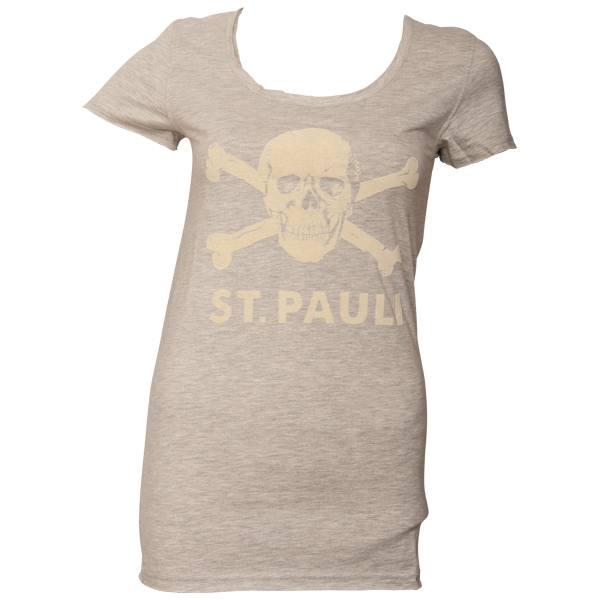 FC St. Pauli - Frauen T-Shirt Softstripes - grau