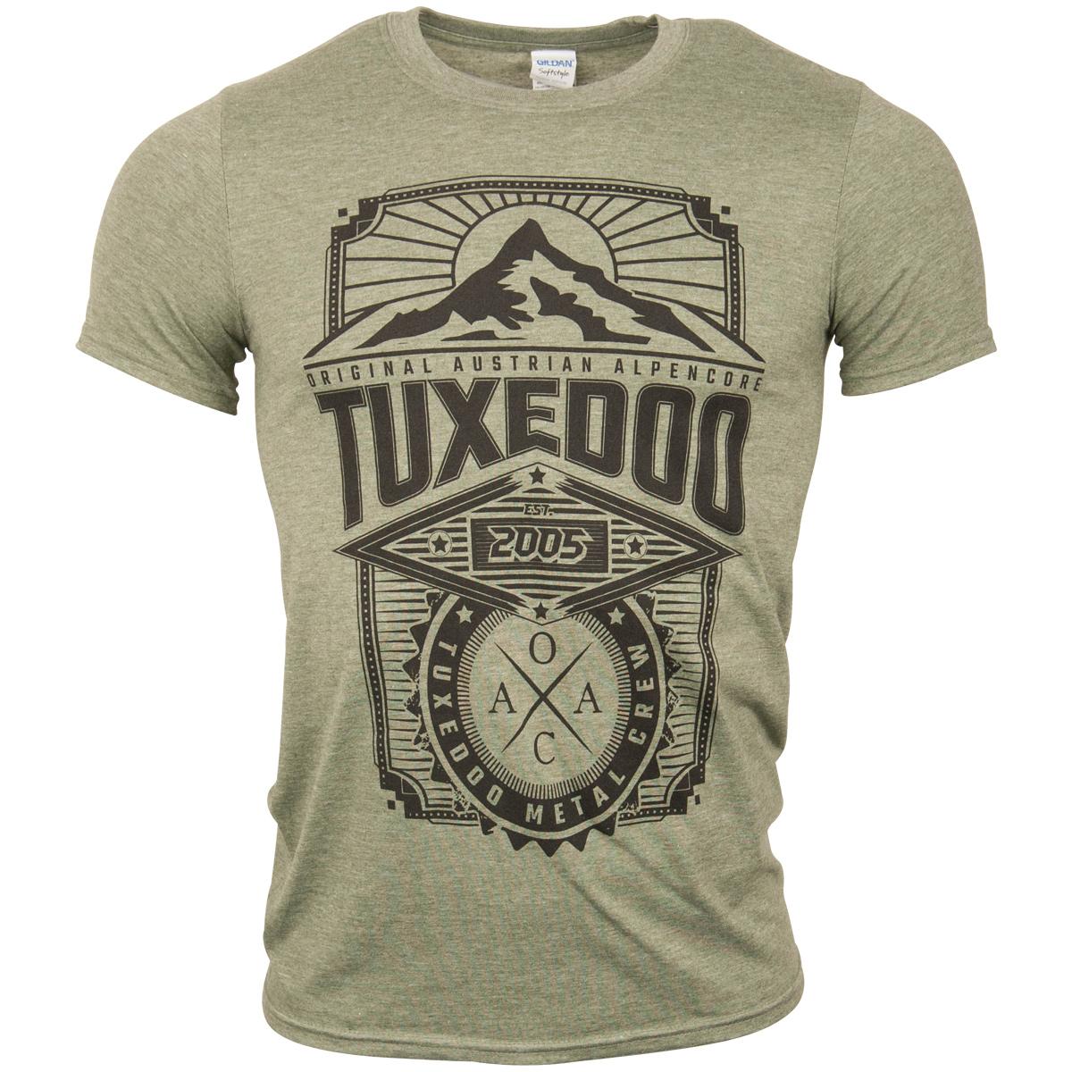 tuXedoo - T-Shirt Berg - grün