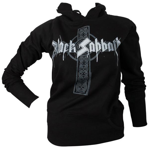 Black Sabbath - Girlie Kapuzenpullover Grey Cross - schwarz