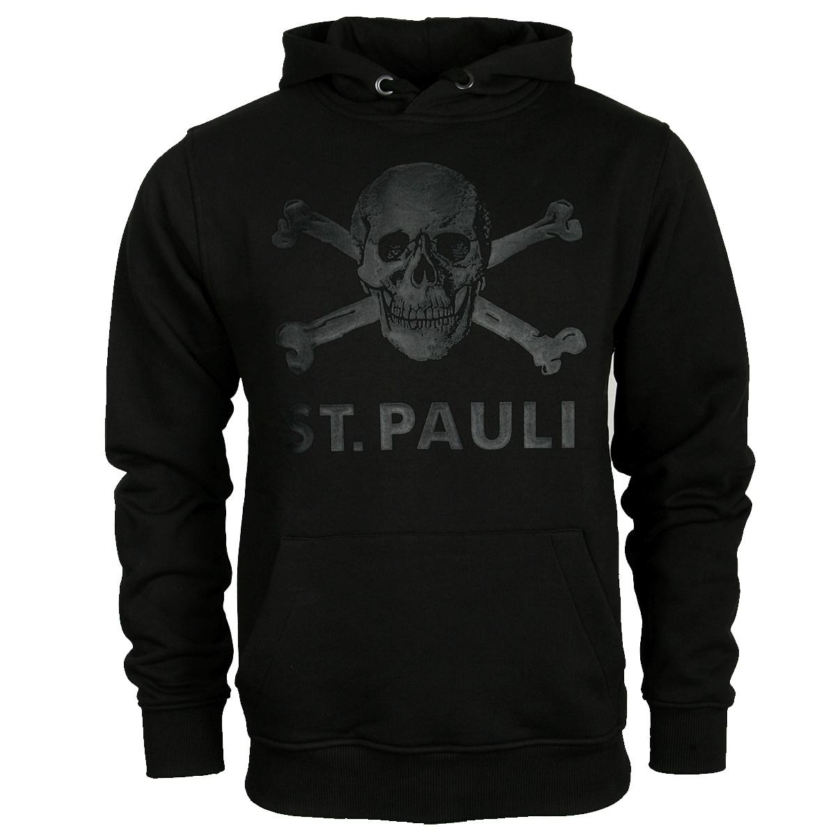 FC St. Pauli - Kapuzenpullover Black Matte Totenkopf - schwarz