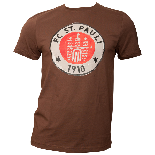 FC St. Pauli - T-Shirt Logo Paint - braun