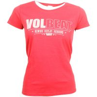 Volbeat - Distressed Logo - Girlie Shirt - rot