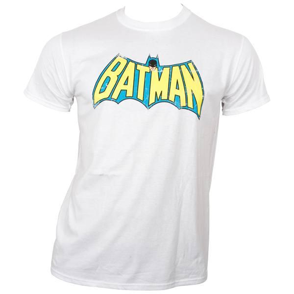 Batman - T-Shirt Retro Logo - weiß