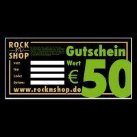 50 Euro Geschenk-Gutschein Rock N Shop