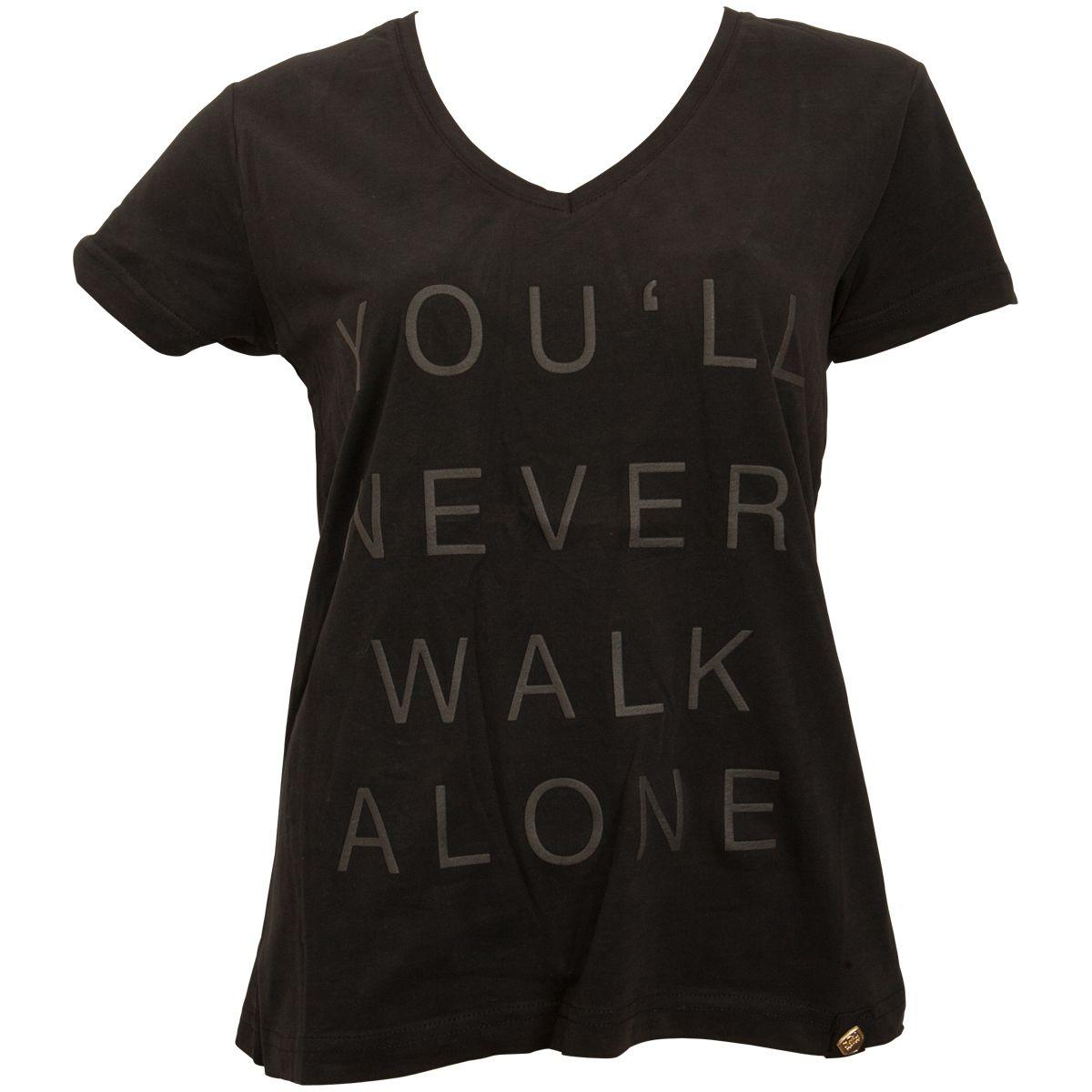 FC St. Pauli - Damen T-Shirt Black Black Gold - schwarz