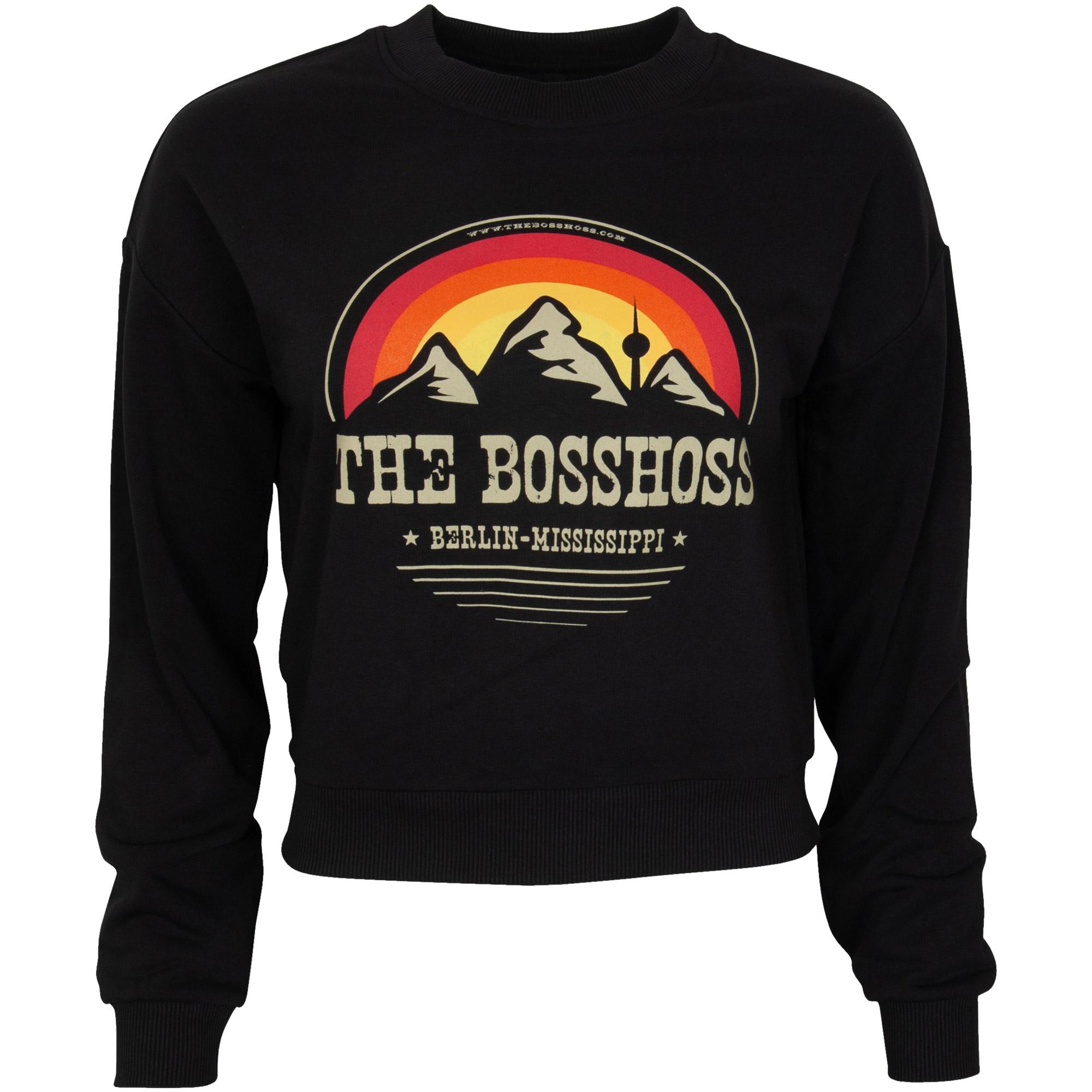The BossHoss - Damen Pullover Mountain Range Vintage - schwarz