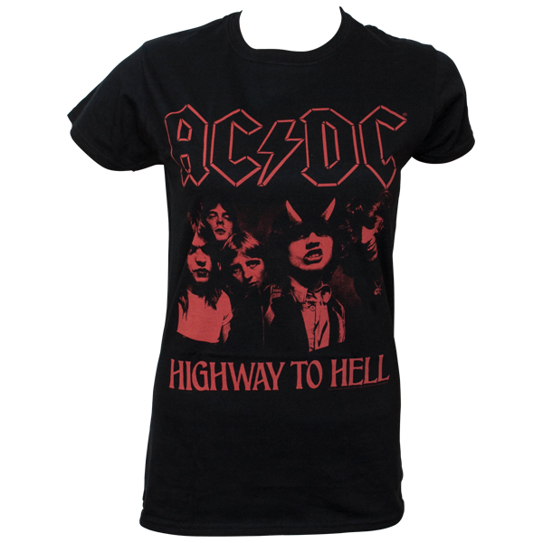 AC/DC - Girlie T-Shirt H2H Photo Red - schwarz