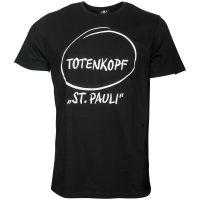 FC St. Pauli - T-Shirt Marketing First Totenkopf - schwarz