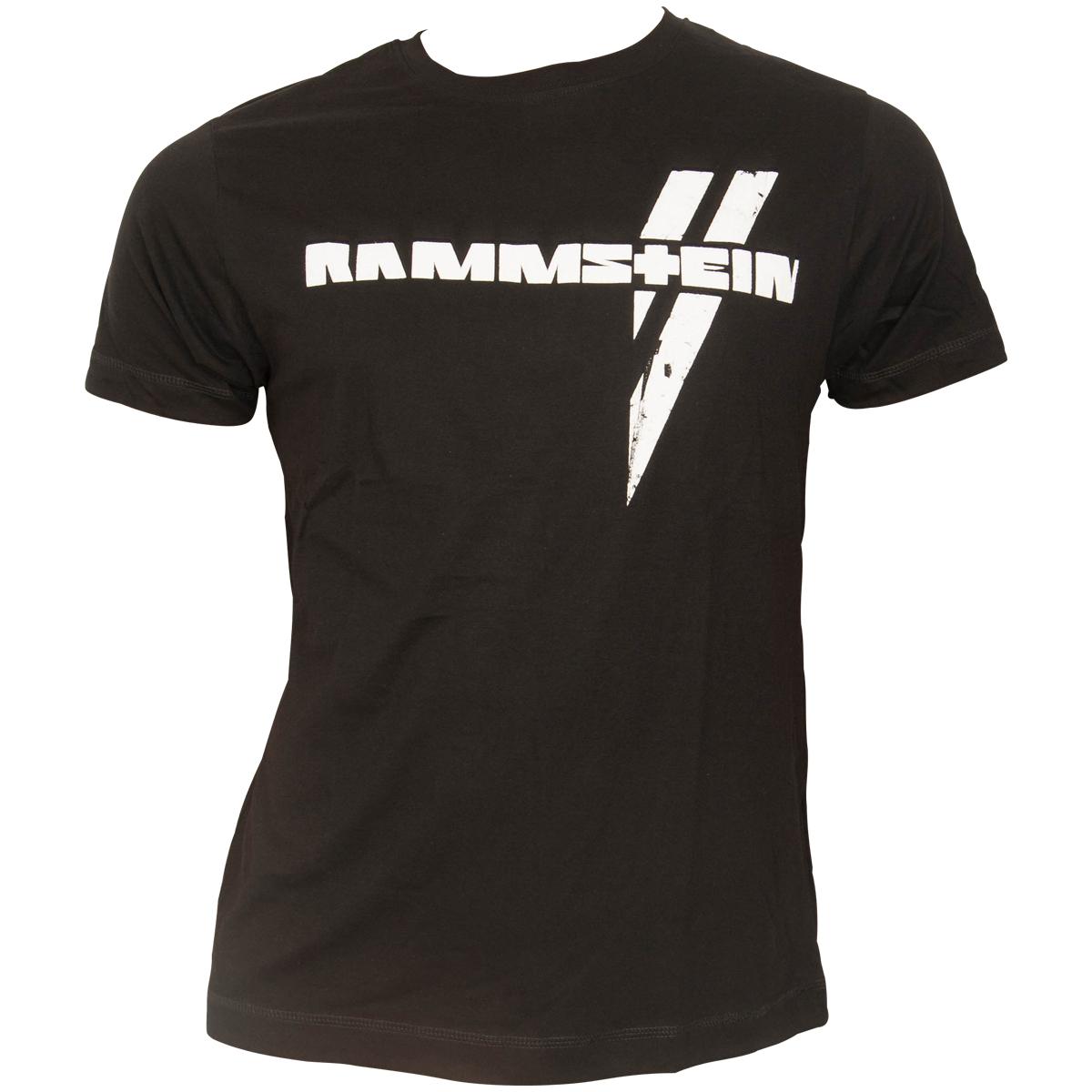 Rammstein - T-Shirt Weißer Balken - schwarz