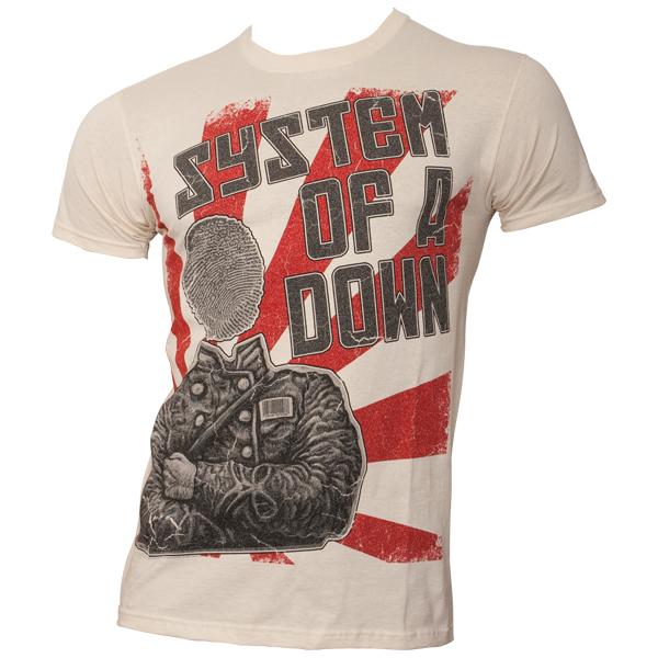System Of A Down - T-Shirt Thumbhead - naturweiß