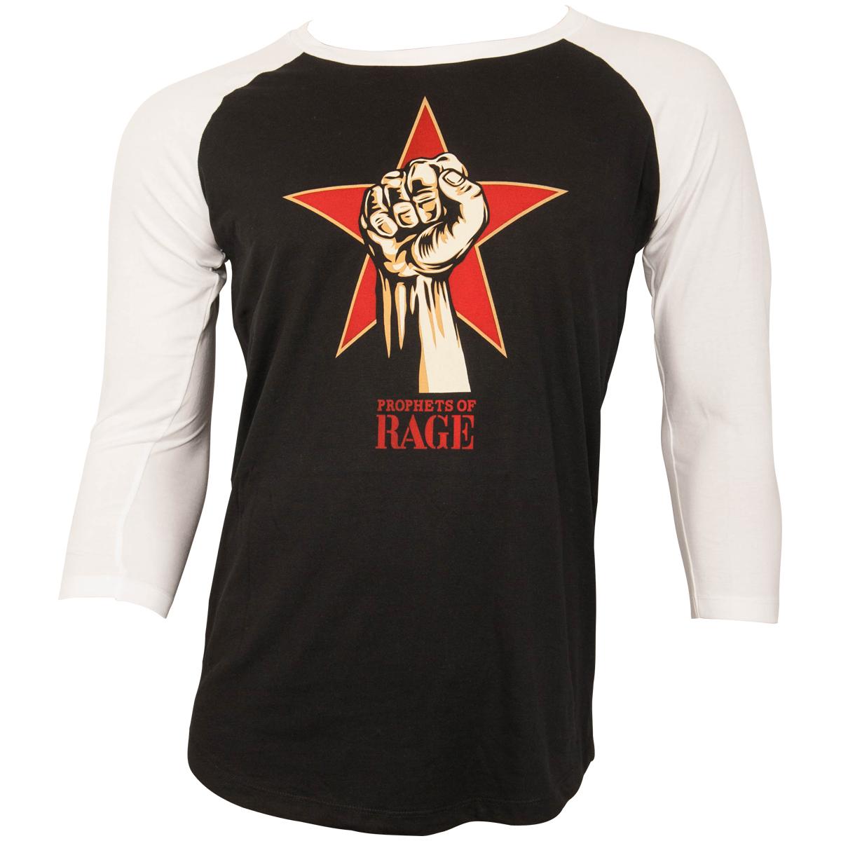 Prophets of Rage - Baseball Shirt Power Fist - schwarz