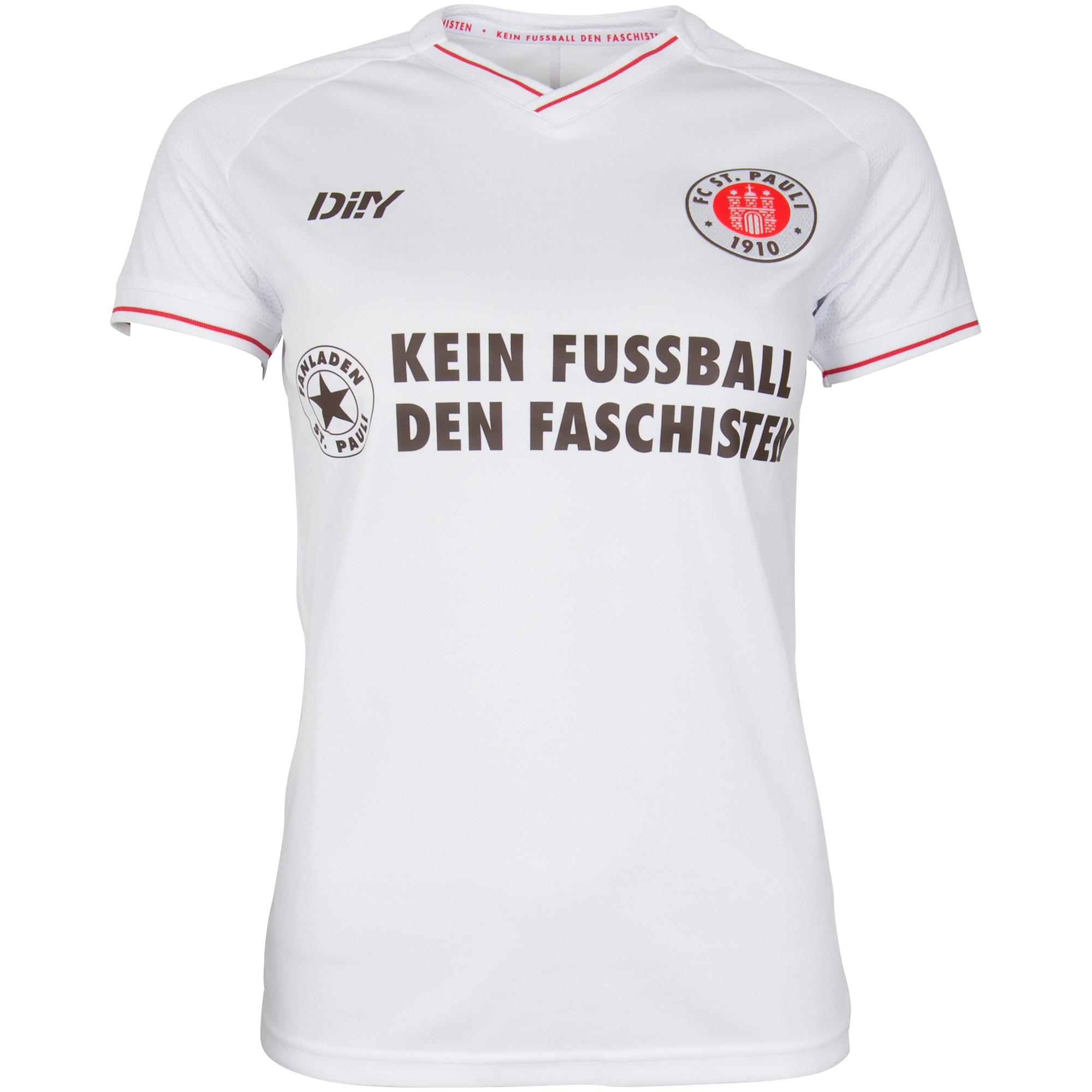 """FC St. Pauli - Trikot Auswärts Tailliert 2021-22 """"Kein Fussball den Faschisten"""""""